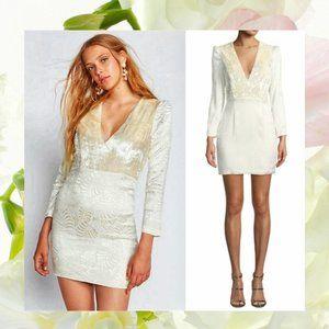 $250 NWT FREE PEOPLE Ivory V-neck Boho Mini Dress